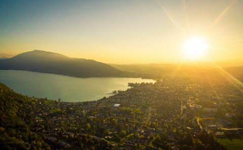 photo aerienne drone Anneyc Haute Savoie
