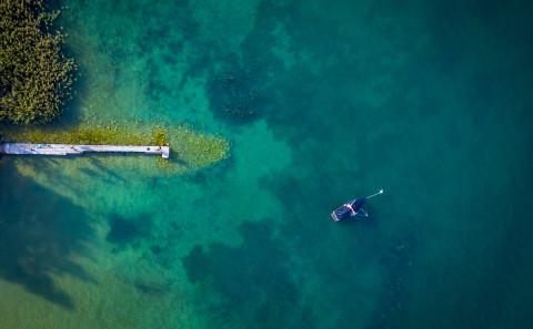 Lac Annecy photo aerienne drone Haute Savoie