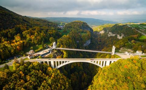 Pont de la caille photo aerienne drone Haute Savoie