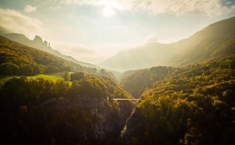 Pont de l'abime photo aerienne drone