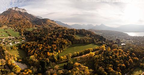 panorama 360 Menthon photo aerienne drone Annecy Haute Savoie